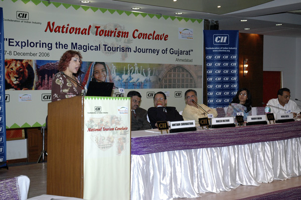 Yndiana Montes, guest speaker at the Tourism Conclave in Gujarat, India.