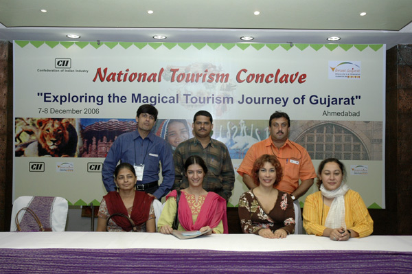 The Tourism Conclave organizers and Yndiana.